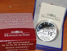 Francia 2005 Fin Seconde Guerre 60 Anni Silver/ Proof 1/ World War End