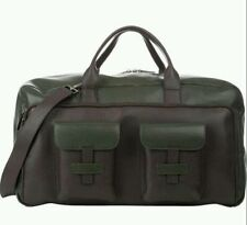 "NWT. $3499 Isaia Men's Leather-2-Tone ""Weekender"" Travel Bag"