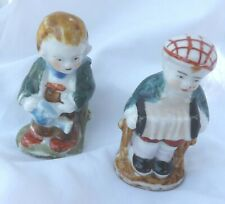 Vintage Bisque Accordion Musician Watering Can Frozen Charlotte Penny Doll Lot 2