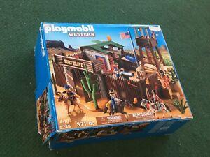 Geobra Playmobil Western 5245 Fort Brave Box And Instructions