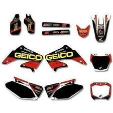 HONDA CR125 TO CR250, 2002 TO 2012, Graphics DECALS Sticker Kit MX GEICO DST0015