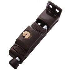 Lockwood Patio Bolt 680-NBRN Sliding Door Lock Brown Keyed To Differ
