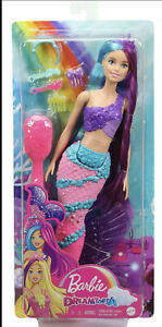 Barbie Dreamtopia Mermaid Doll with Extra-Long Two-Tone Fantasy Hair New Kid Toy