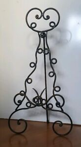 XL Vintage Ornate Iron Tabletop Plate/Book Stand Easel