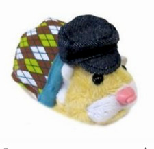 2010 Zhu Zhu Pets Hamster Outfit Argyle Sweater & Hat set 🌟 NEW OUT OF PACKAGE