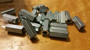 """NEW FULLY THREADED 1/4"""" STAINLESS STEEL ROD COUPLING NUTS"""