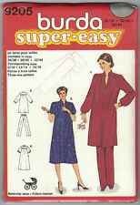 Vintage Burda 9205 Maternity Dress Tunic Pants Pattern Size 8-18 Eur 34-44 Uncut