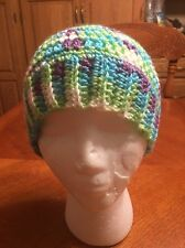 WOMEN'S MESSY BUN  CROCHET Beanie Toboggan HAT Ponytail Hat Handmade