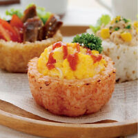 2 PKS Japan Bento Rice Mold Sushi Maker Rice Bowl Cup Set Kitchen Tools Gadget