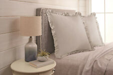 Better Homes and Gardens Raw Edge Ruffle Euro Pillow Sham-Greige