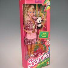 Barbie 1988 1350 Animal Lovin' Barbie Doll Pet Panda Nrfb Nice Box
