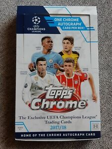 Empty Box UEFA CHAMPIONS LEAGUE CHROME 2017 2018 Topps MBAPPE Rookie Year 17 18