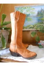 Vintage 1970's Stewart Boot Company beautiful soft Tall Leather Cowboy Boot 5B