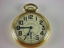 Antique original 16s Waltham Vanguard Rail Road 23 jewel pocket watch made 1947