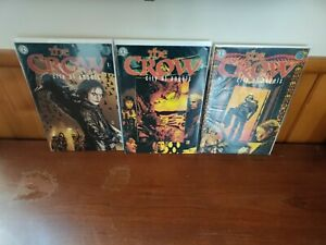 THE CROW City of Angels (1996) Complete set 1 2 3 Kitchen Sink/Top Dollar Comics