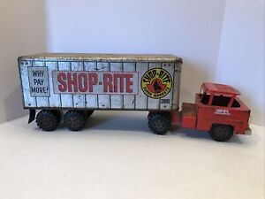 Vintage 1950's 1960's Marx Shop Rite Toy Truck Advertising Semi Tractor Trailer