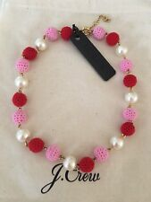 NWT J.Crew 💯%Authentic CERISE Crochet bead-and-pearl Necklace