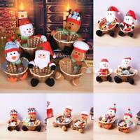 Christmas Candy Basket Kids Large candy box Gift Xmas Ornament Home Decor New