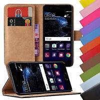 Book Case Handy Hülle für Huawei Ascend Handy Tasche Schutz Hülle aus Kunstleder