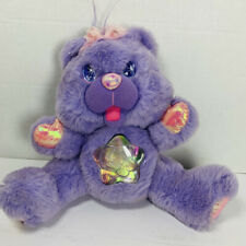 Vintage 1995 FANTASY LTD TWINKLE BEARS Purple Rare LIGHT UP TEDDY BEAR TOY Works