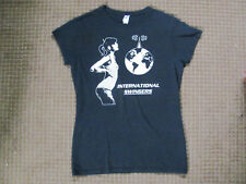 International Swingers T-Shirt Womens Large Black clem burke glen matlock band