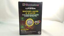 EZ-Illuminations Laser Light Snow Flakes & Stars Animation Feature 3 Color Modes