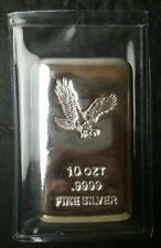 10oz Poured Silver Bar in Plastic