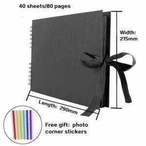 Scrapbook Photo Album Book Binder Picture Anniversary Wedding Memory Books DIY