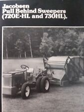 Jacobsen Olathe Pull Behind Hydro Sweeper PTO Lawn Tractor Sales Brochure Manual