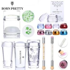 BORN PRETTY ear Jelly Chess Stamper Scraper Dual-ended Stamp Blooming Pen Tool