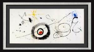 Joan MIRO Original Triptych COLOR Lithograph, 1963  w/Custom Frame