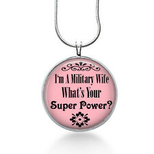 Military Wife Necklace- Military Wife pendant gifts for Army, Navy, Air Force