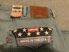 NWT Levis 501 Made In USA White Oak Cone Denim Jeans Mens 38x34 New