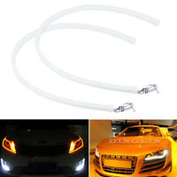 2x 60CM LED White Car DRL Daytime Running Lamp Strip Light Flexible Soft Tube KK