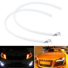 2x 60CM LED White Car DRL Daytime Running Lamp Strip Light Flexible Soft Tube KK