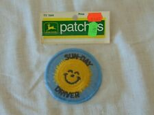 1972 JOHN DEERE PATCHES SUN-DAY DRIVER TY1844 PATCH ORIGINAL PACKAGE RARE