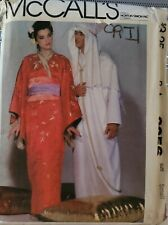 Vtg McCall's pattern 8256 Misses' & Men's Costumes Kimono, Caftan size S, uncut