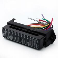 12 Way 32V Circuit Auto Car Boat Trailer ATC ATO Blade Fuse Box Block Holder