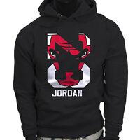 Chicago bulls Michael Air Legend 23 Jordan Mens Black Hoodie