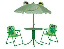 SIENA GARDEN Kinderset Froggy 2 Klappsessel, 1 Tisch, 1 Schirm