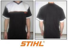 T-shirt V motosega sweatshirt woodman motorsage STIHL bianco nero weiss black M