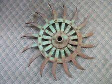 ORNAMENTAL FARM SPIKE WHEEL IRON / Disk / Plow / Harrow Decorative Art JOHN DEER