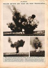 Explosion de torpilles marmites tranchées / Lord Kitchener 1915 WWI ILLUSTRATION