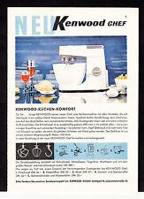 3w2149/ Alte Reklame von 1960 - KENNWOOD - Küchen-Komfort - Stuttgart