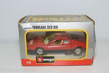 BBURAGO BURAGO 133 FERRARI 512 BB 512BB RED MINT BOXED
