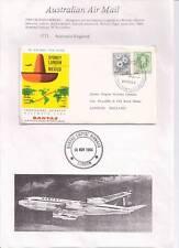 1964 Australia to England Qantas Inaugural service First Flight Cover