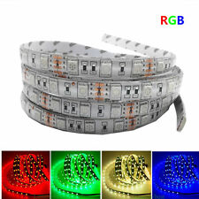 1-5M 300LED SMD 5050 RGB white Flexible 3M Tape Strip Light DC12V Waterproof