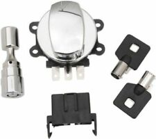 Chrome Ignition Switch for Harley Fork Lock & Switch on Road King, Dyna, Softail