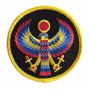 """Horus Clothing Patch 3"""" Embroidered Sew-On Pagan Egyptian Hawk Ra NEW"""