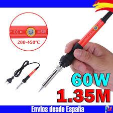 Soldador de estaño Rojo 60W 200°>450°C soldadura con regulador de temperatura